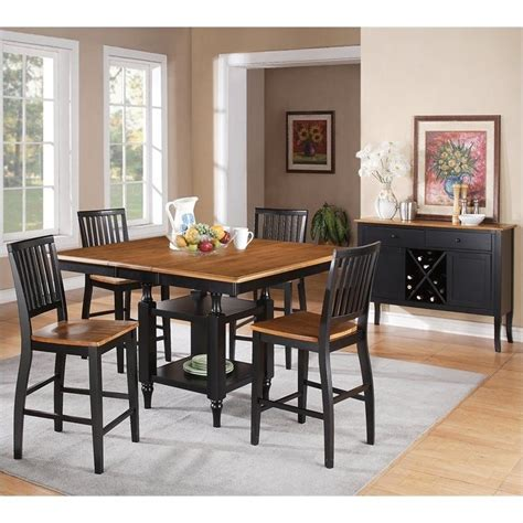 Black Counter Height Table Set by Steve Silver Company Candice 5 Counter Height Dining