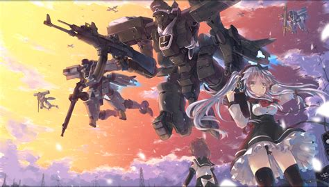 wallpaper anime mecha original full hd wallpaper and background image