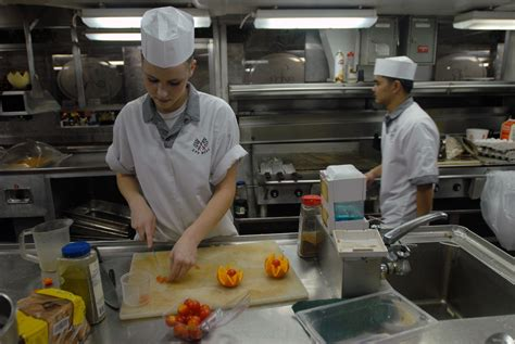 cook s stock photography image of navy cooks preparing food for the sailors