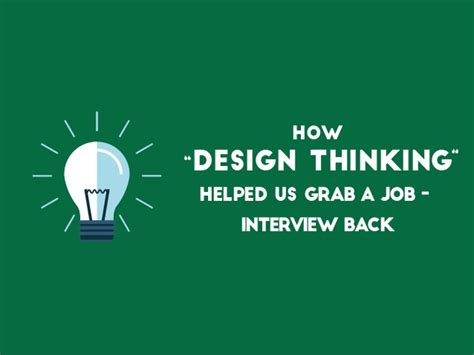 design thinking jobs new zealand how design thinking helped us in grabbing a job back