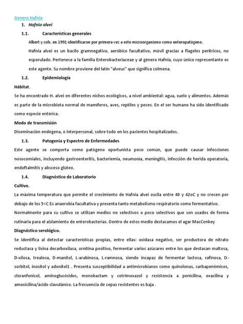 Genero Hafnia   Microbiología   Patología clínica