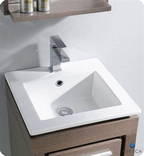 16 bathroom vanity fresca 16 quot allier small modern bathroom vanity grey oak finish