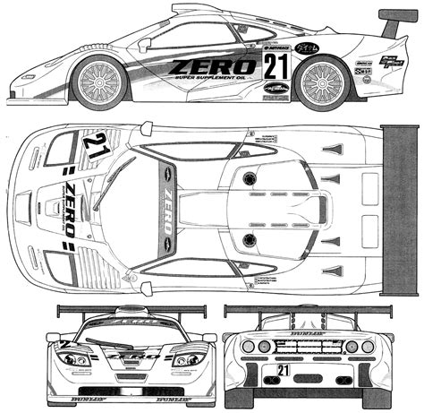 mclaren f1 drawing mclaren f1 gtr blueprint racing car blueprint
