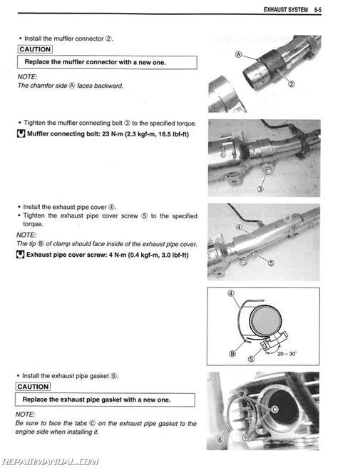 Suzuki Service Parts 2009 2017 Suzuki Tu250x Motorcycle Service Manual