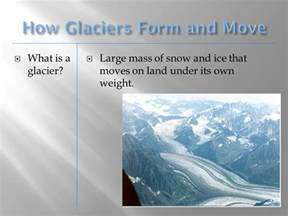 glaciers chapter 8 section ppt