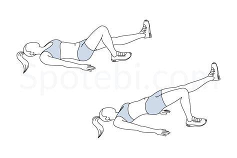 single leg bridge illustrated exercise guide