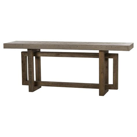 Concrete Console Table Pinter Rustic Lodge Pine Concrete Console Table Kathy Kuo Home
