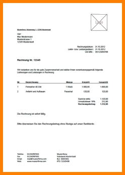 Musterrechnung F R Schweiz 8 provisionsabrechnung muster kostenlos sponsorshipletterr