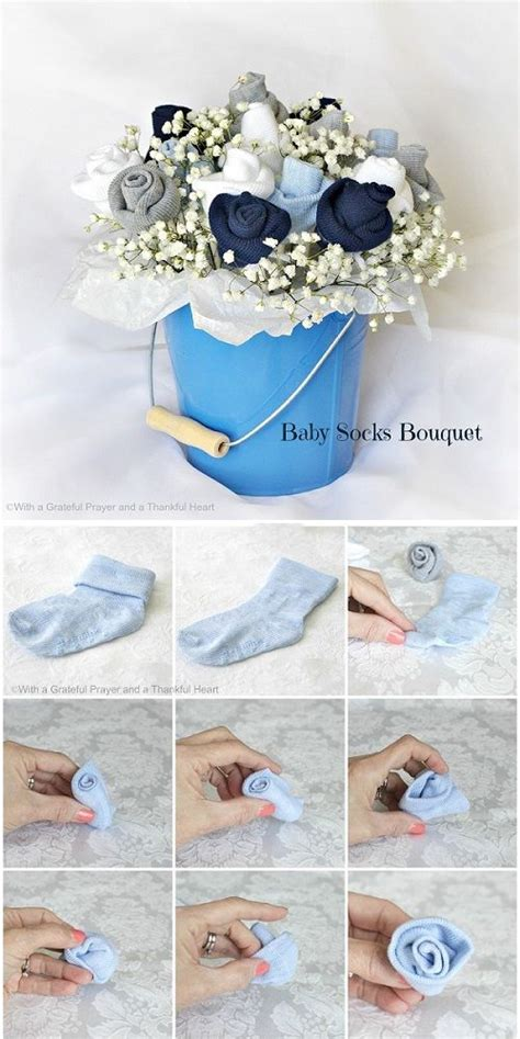 Shower Tutorial by Diy Baby Sock Bouquets Hip Who