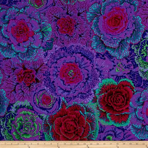 Kaffe Fassett Home Decor Fabric by Kaffe Fassett Collective Brassica Purple Discount