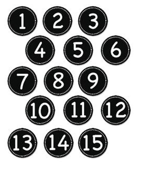 printable number label green circle number labels 1 30 circles number labels