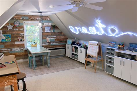 Art and craft studio using flow wall reveal pretty handy girl