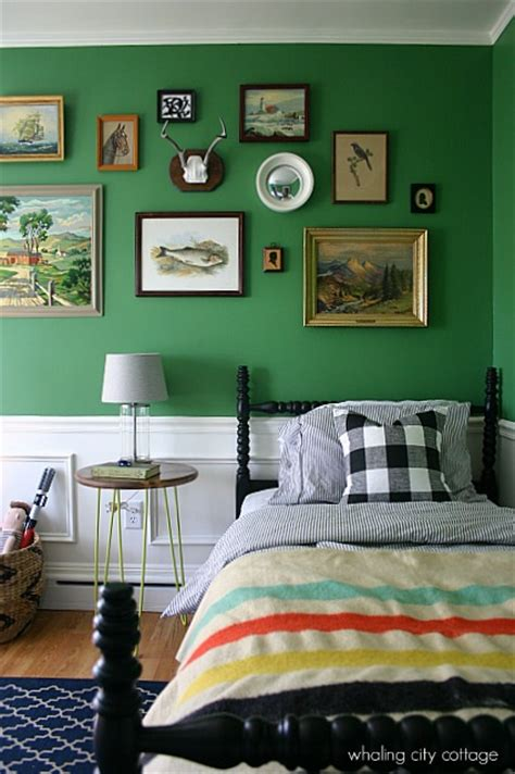 boys bedroom paint colors vintage styled boys room in green interiors by color