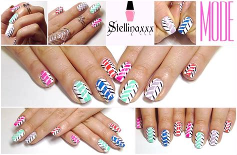 nails tutorial zig zag tutorial nail art zig zag multicolor mode