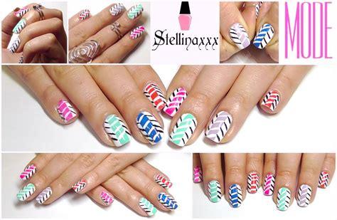 tutorial nail art gang tutorial nail art zig zag multicolor mode