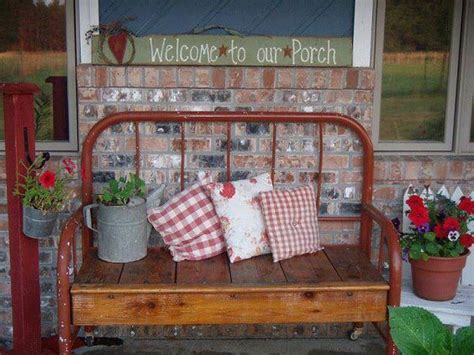 benches made out of headboards bench made out of old metal headboard recycle