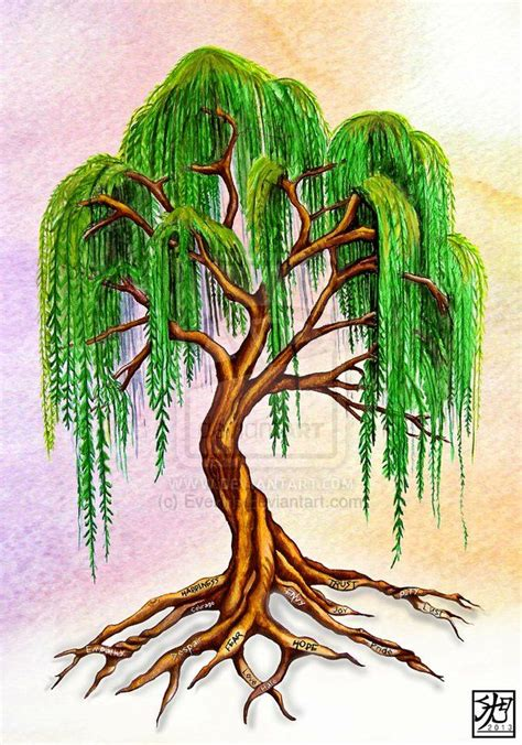 small willow tree tattoo willow tree weeping willow with virtue roots by
