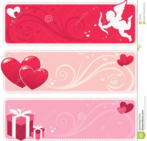 design banner valentine valentine banner stock image image 10290421
