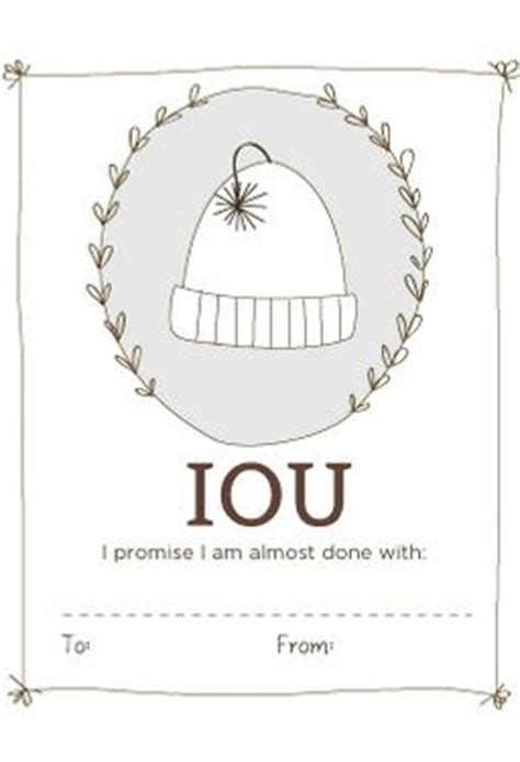 printable knitting tags iou labels printable download knitting patterns and