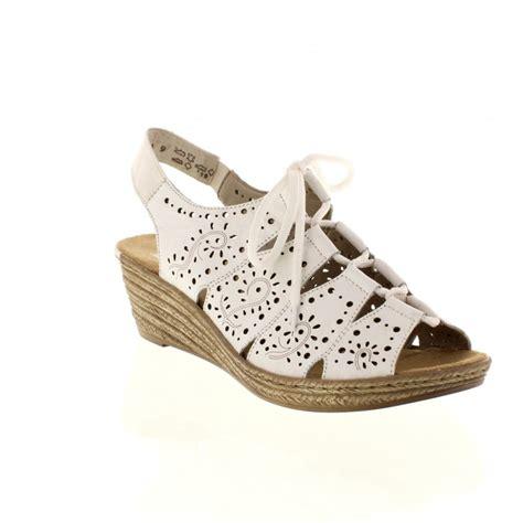 white slip on sandals rieker 62465 80 white slip on sandals rieker