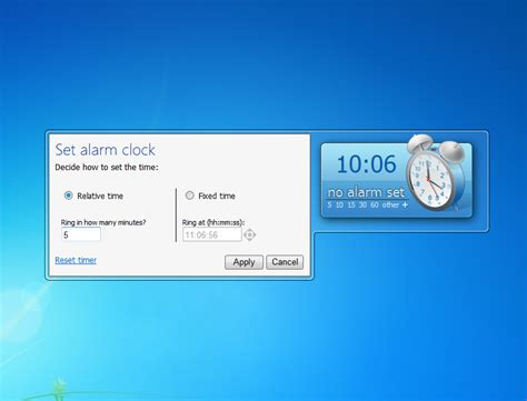 alarm clock  windows  desktop gadget