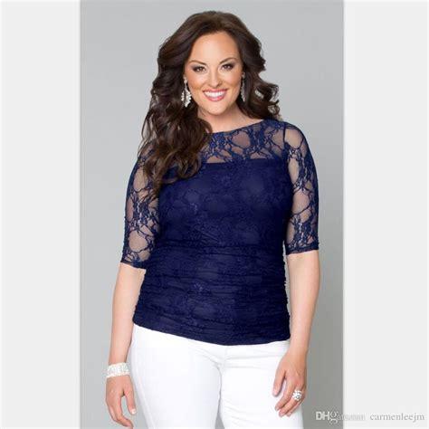Bigsize Plussize Blouse 2018 2017 plus size clothing lace blouses big size