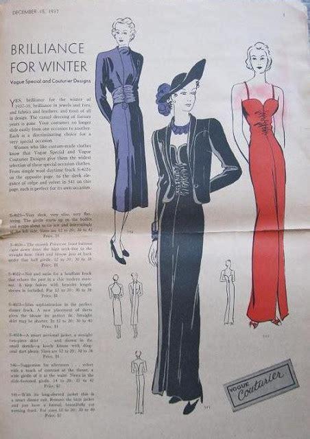 vogue pattern history apron history 1937 vogue pattern magazine