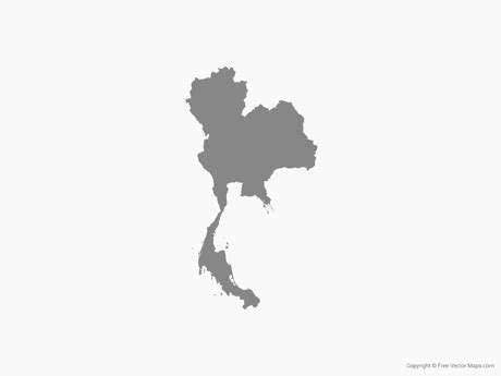 thailand map vector free vector map of thailand single color free vector maps
