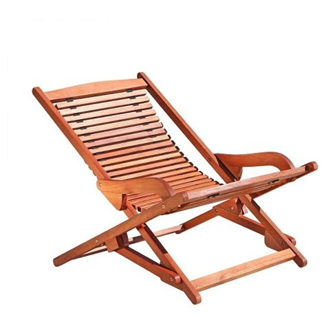 foldable reclining c chair vifah outdoor wood reclining folding lounge brown target