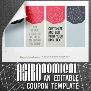 printable iou coupons archives  printables