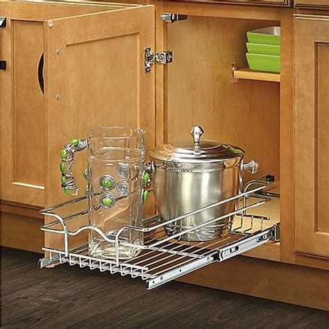 12 inch double pull out chrome wire shelf 18 quot deep 5wb2 buy rev a shelf 174 12 inch x 22 inch single tier pull out