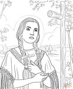 St Kateri Tekakwitha Coloring Page Free Printable St Coloring Pages