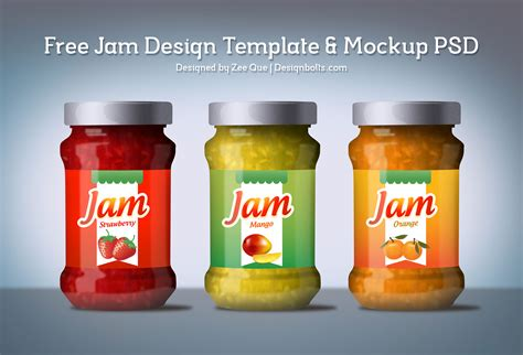 label design for jars free jam design template mockup psd
