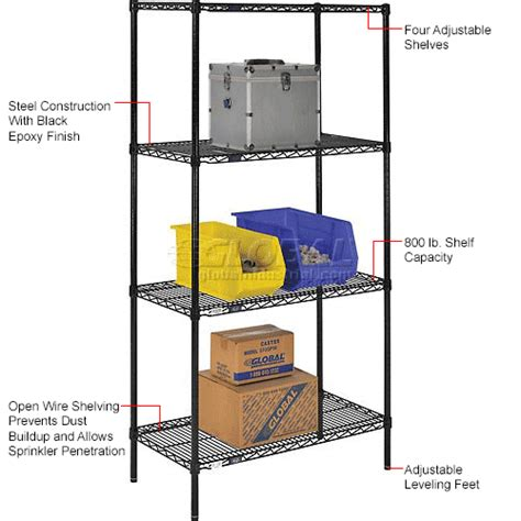 Plastic Shelf Supports For Wire Shelving Units by Wire Shelving Black Epoxy Nexel Black Epoxy Wire