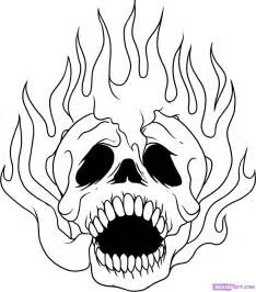 How To Draw A Skull On Fire Step By Skulls Pop Culture FREE  sketch template