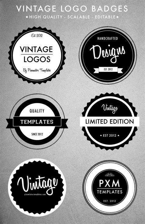 Vintage Logo Template Playbestonlinegames Retro Logo Template