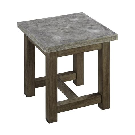 accent table l shop home styles concrete chic 22 in w x 22 in l square