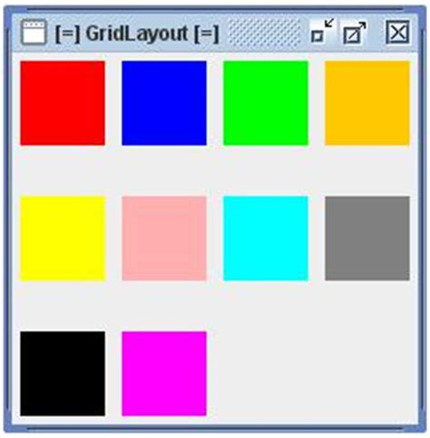 swing gridlayout the guidebook swing tutorials