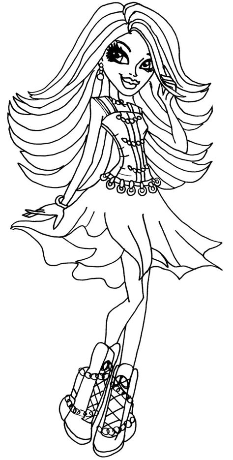 monster high spectra coloring pages monster high spectra vondergeist hold the hair coloring