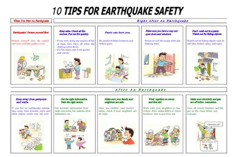 earthquake safety emergency plan template download safety tips during an
