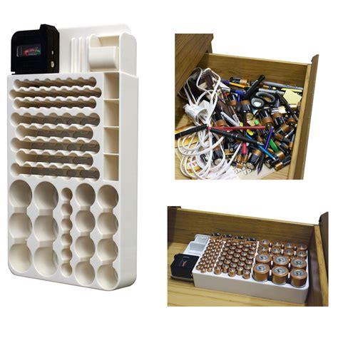 Battery Storage Box battery storage organizer rack 82 holder tester box organize hold aa aaa 9v ebay
