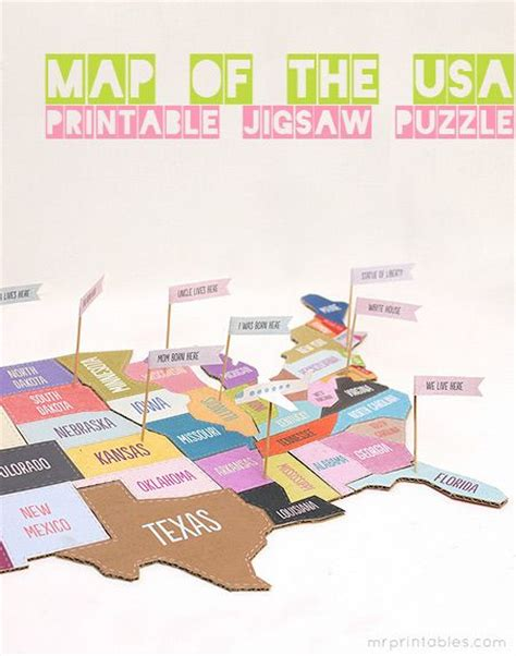 printable map  usa jigsaw puzzle  states games