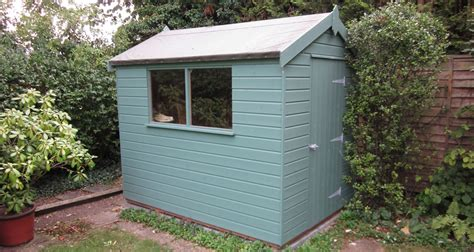 Painted Garden Sheds Uk by 6 X 8 Classic Garden Shed With Paint Plan Free