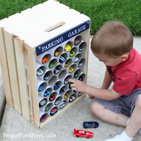 Diy Matchbox Car Garage by Diy Wooden Crate Storage And Display For Wheels Cars