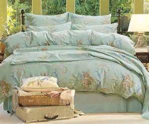 Bedding Sets 100 Cotton Quailty Grace Blue 100 Cotton Luxury Bedding