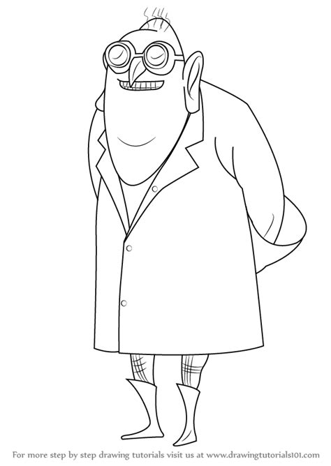 learn how to draw dr nefario from despicable me