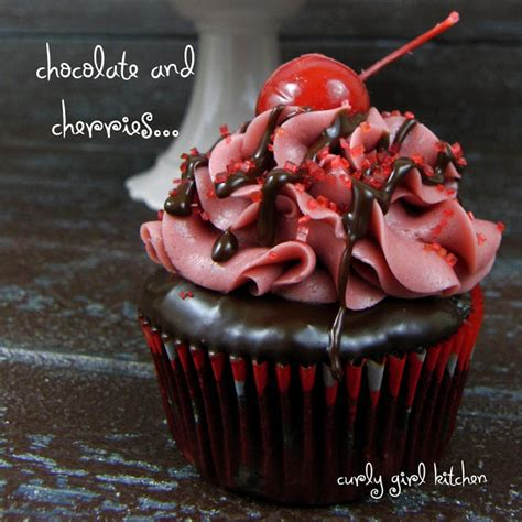 Cupcake Of The Week Festive Black Cherry Chocolate by Curly Kitchen Chocolate Covered Cherry Cupcakes
