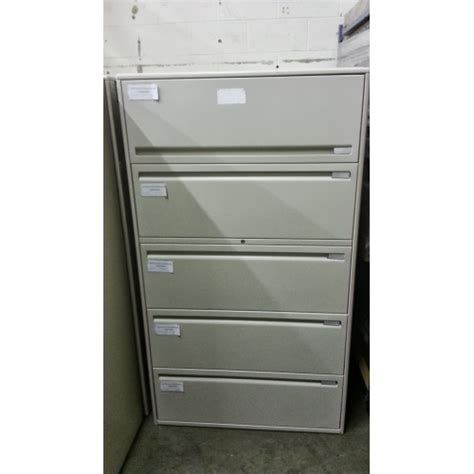 Five Drawer Lateral File Cabinet by Haworth 5 Drawer Lateral File Cabinet Beige Allsold Ca