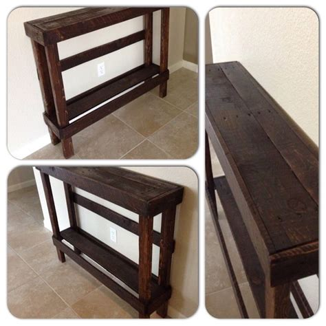 pallet entry table pallet entry table plans woodworking projects plans