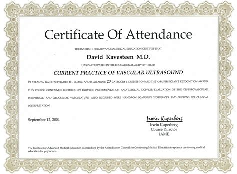 Certificate Of Attendance Pictures to Pin on Pinterest